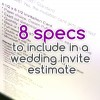 8 specs to include in a wedding invite estimate